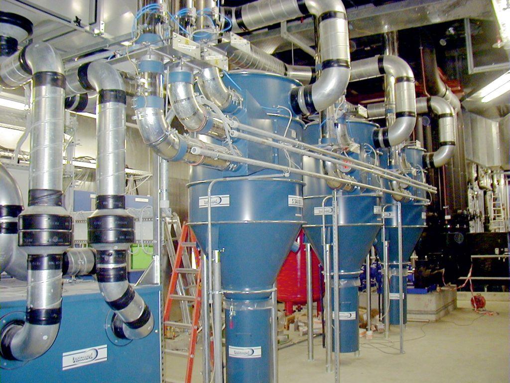 przemysłowe systemy centralnego odkurzania